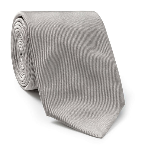 Made To Order Silk Tie in Light Grey