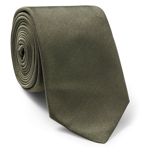 Made To Order Silk Tie in Army Green