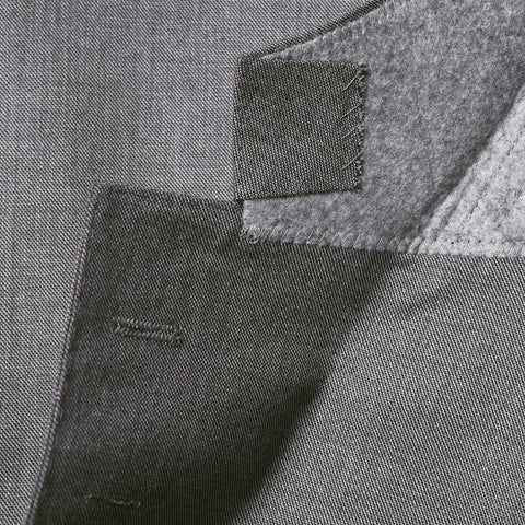 Conduit Cut 3 Piece Suit Mid-Grey Sharkskin