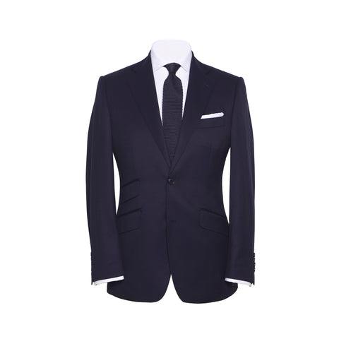 Conduit Cut 2 Piece Suit Solid Navy