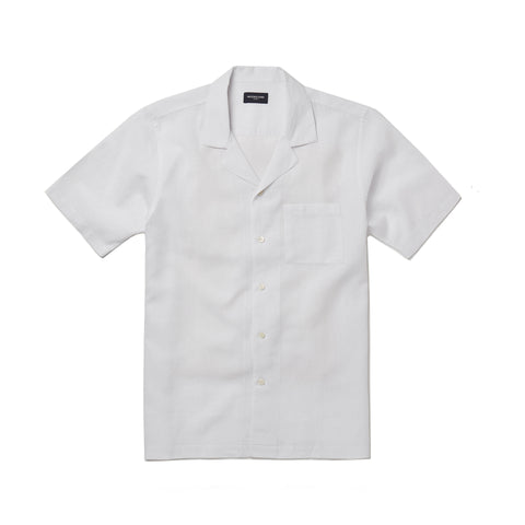 Camp Collar Seersucker Shirt