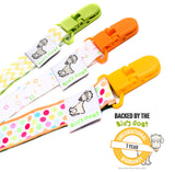 Pacifier Clip with 2-Sided Design - 3 Pack - Neutral Set
