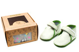 Billy Goat Baby Gear cute baby shoes in a box with socks for 6-14 month old baby