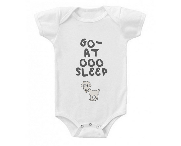 Billy Goat Baby Organic Onesie 'Go-at OOO Sleep' Design