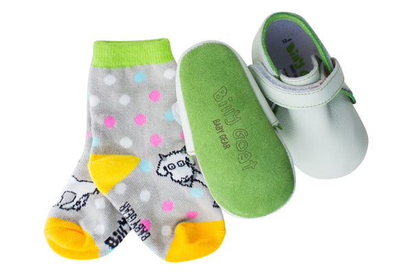 Billy Goat Baby Gear Green Unisex Booties
