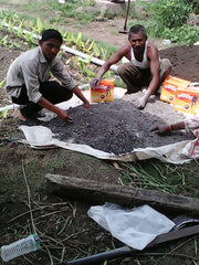 Mixing of Humnasur with compost