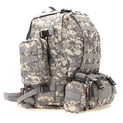 Tactical Hiking Pack Grey Camo
