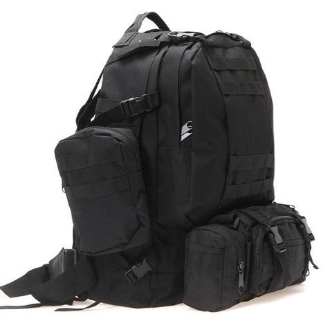 Tactical Hiking Pack Black