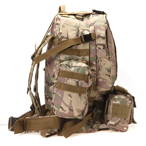Tactical Hiking Pack Brown Camo