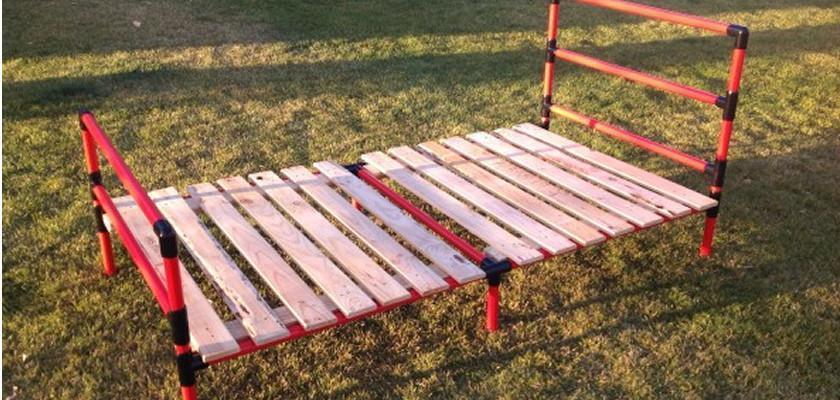 Affordable PVC Pipe Slat Bed