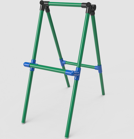 How To Build A Simple Colorful Kids Art Easel From Pvc