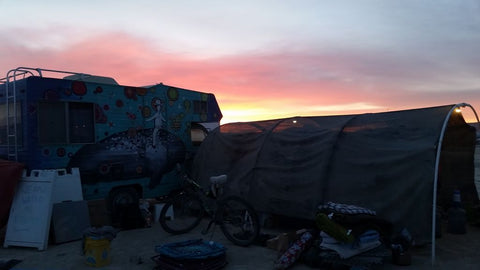 Night on the Playa in a PVC Tent