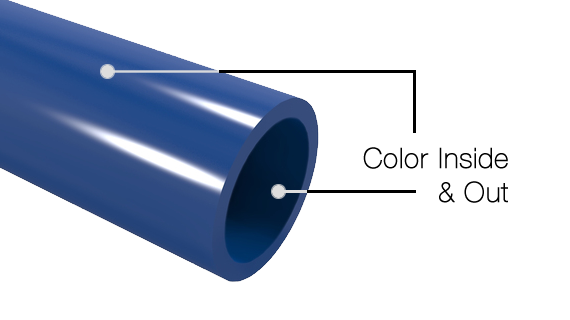 Color pvc pipe and fittings formufit