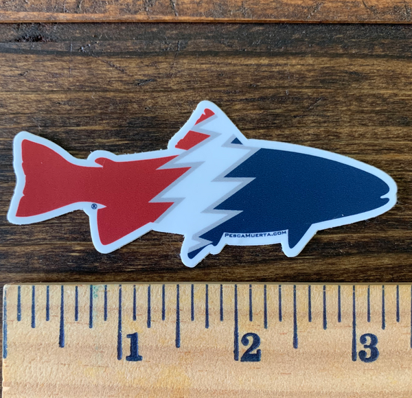 Small Premium Vinyl Trout Decal