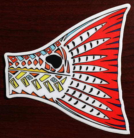 Artist Series Funky Redfish Tail Decal