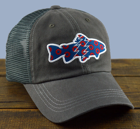 Donuts Trout Mesh-Back Trucker Hat