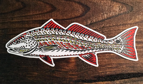 Artist Series Funky Redfish Decal