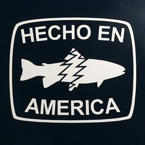Hecho En America Laser Cut Transfer Decal