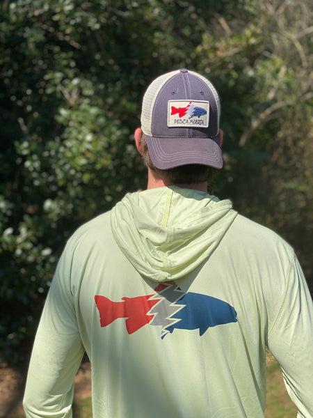 Hooded Long Sleeve Performance Sun Shirt - Trout