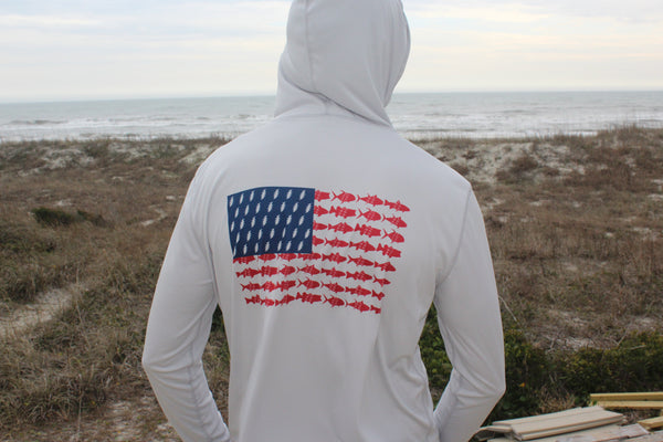 Hooded Long Sleeve Performance Sun Shirt - Pesca 'Merica