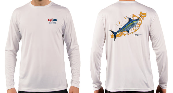 Artist Series Long Sleeve Performance Sun Shirt - Marlin in the Keys