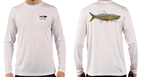 Artist Series Long Sleeve Performance Sun Shirt - Trippy Tarpon