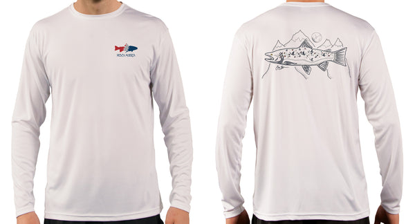Artist Series Long Sleeve Performance Sun Shirt - Brown Trout Rising