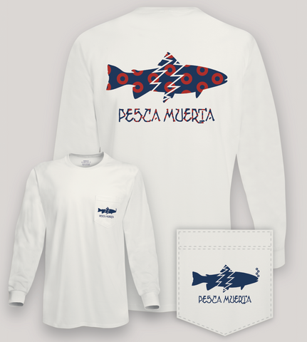 Long Sleeve Pocket T-Shirt - Pesca Muerta Trout Logo x Donuts