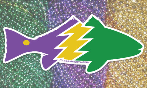 Limited Edition Premium Vinyl Mardi Gras Redfish Decal
