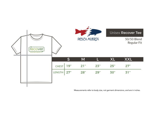 Mardi Gras Redfish Pesca x Recover Recycled Tee Shirt