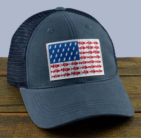 Navy Pesca 'Merica Mesh-Back Trucker Hat
