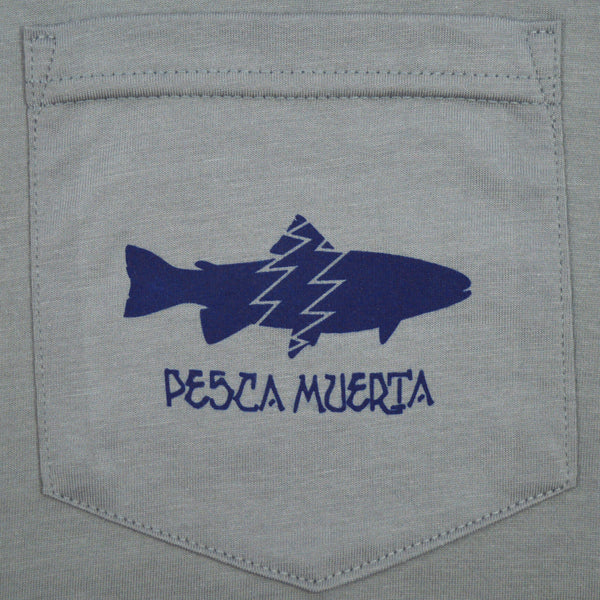 Short Sleeve Pocket T-Shirt - Pesca Muerta Trout Logo