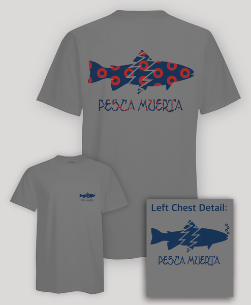 Short Sleeve T-Shirt - Pesca Muerta Trout Logo x Donuts