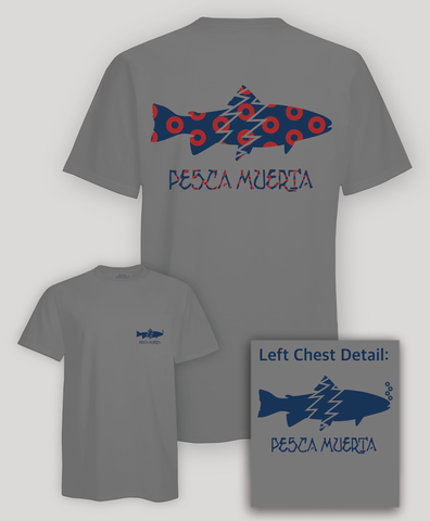 Short Sleeve Pocket T-Shirt - Pesca Muerta Trout Logo x Donuts