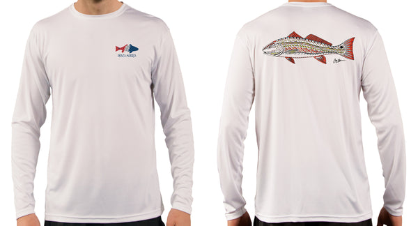 Artist Series Long Sleeve Performance Sun Shirt - Funky Redfish
