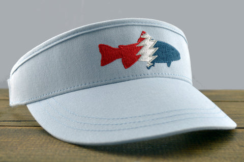 Trout Tour Visor (Light Blue)