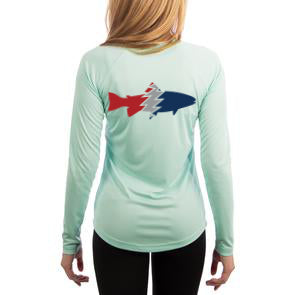 Women's Long Sleeve Performance Sun Shirt- Trout