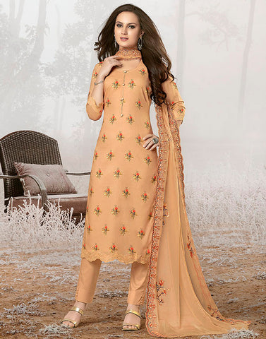 Peach Cotton Suit Set
