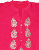 Cotton Chanderi Kurti With Gotta Patti Embroidery By Meena Bazaar