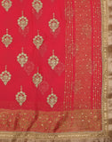 Georgette Saree With Zari Thread Embroidery By Meena Bazaar