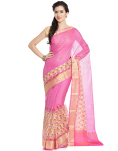 Meena Baaar: Cotton Kota Saree With Floral Print