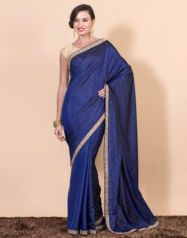Embroidered Art Handloom Silk Saree