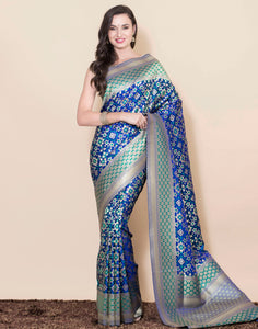 Handloom Banarsi Saree with Zari Work
