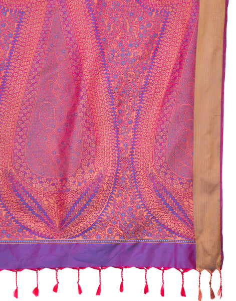 Purple Handloom Woven Saree