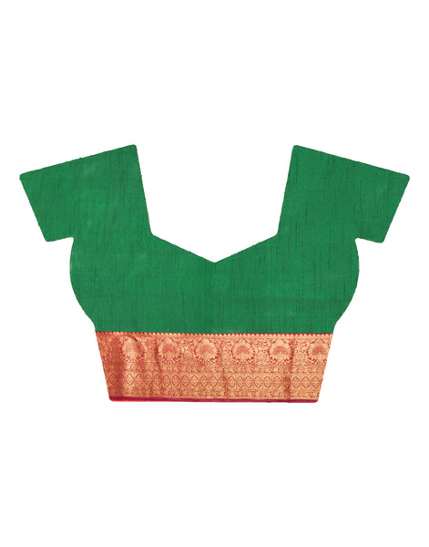 Green Art Handloom Woven Saree