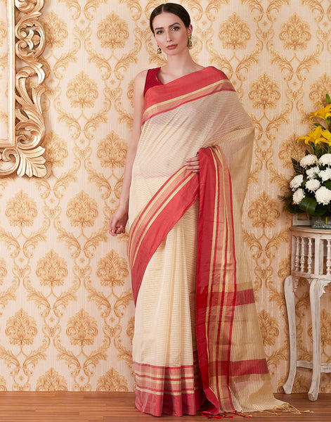 Sea Green Art Handloom Woven Saree