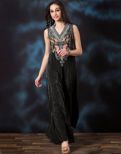 Digital Printed Net Gown