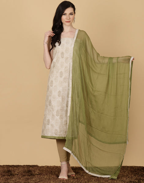 Unstitched Cotton Chanderi Suit