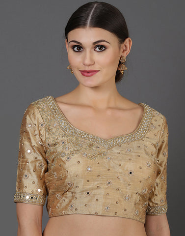Dupion silk blouse
