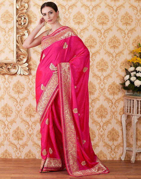 Rani Art Handloom Woven Embroidered Saree